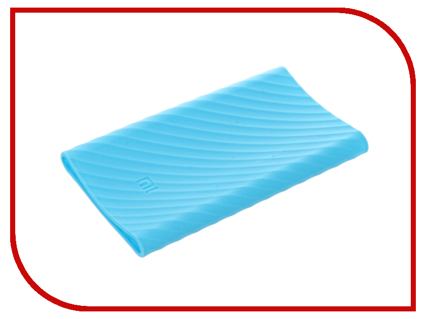 Аксессуар Чехол Xiaomi Silicone Case for Power Bank Pro 10000 Blue<br>