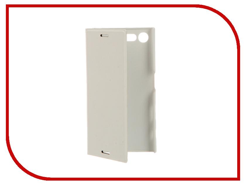Аксессуар Чехол Sony Xperia X Compact BROSCO PU White XC-BOOK-WHITE<br>