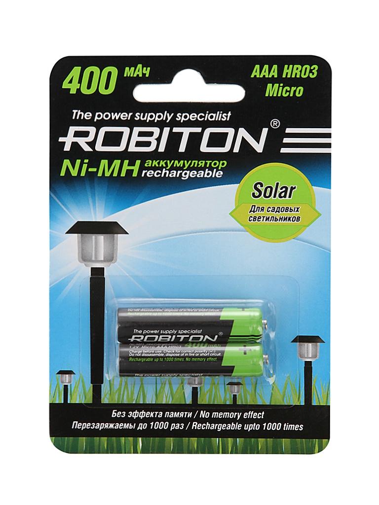 Фото - Аккумулятор AAA - Robiton SOLAR 400MHAAA-2 13904 BL2 (2 штуки) аккумулятор