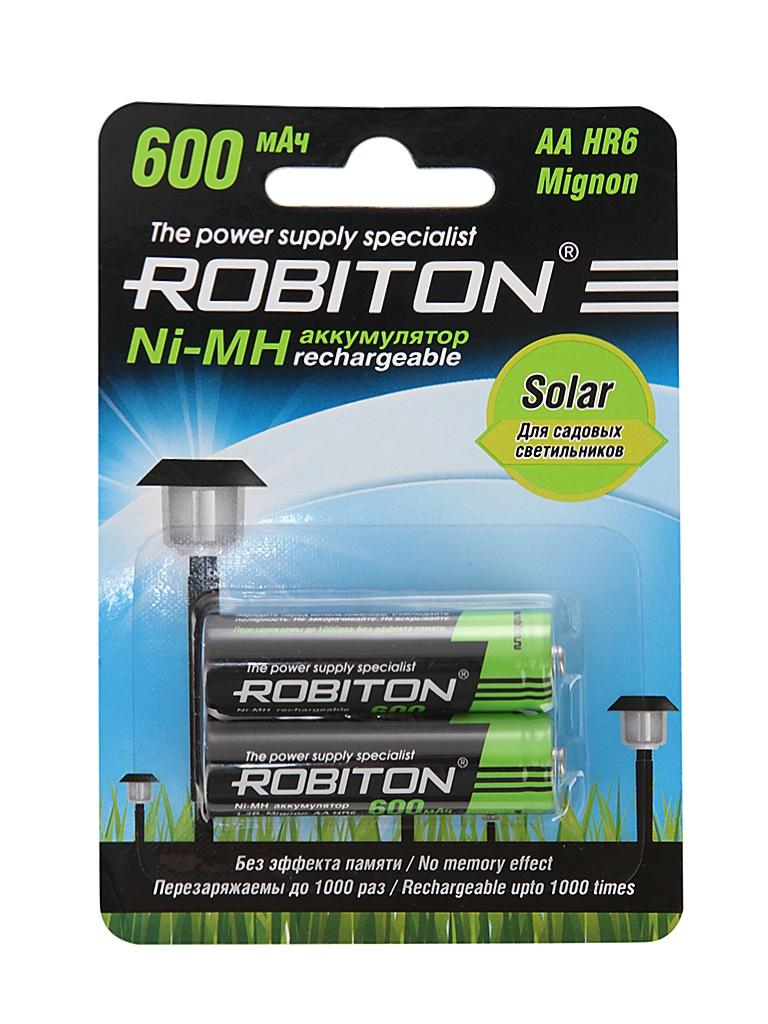 Аккумулятор AA - Robiton SOLAR 600MHAA-2 13905 BL2 (2 штуки)