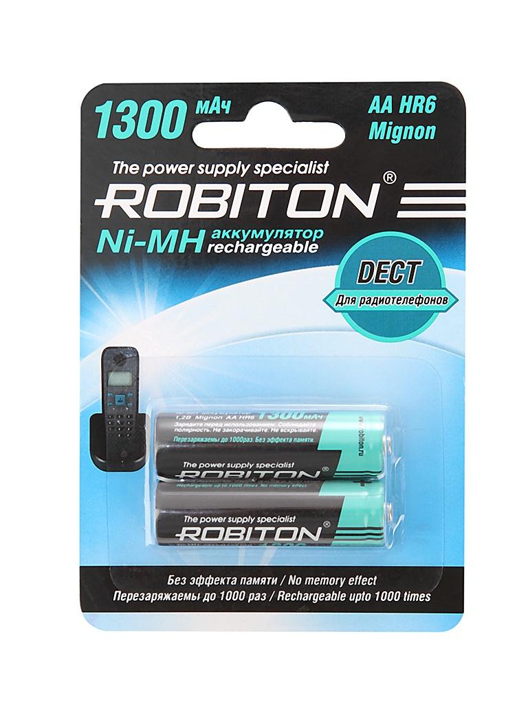 Фото - Аккумулятор AA - Robiton DECT 1300MHAA-2 13902 BL2 (2 штуки) аккумулятор