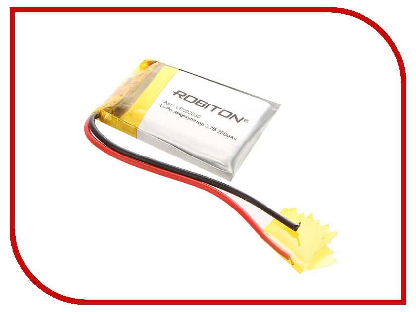 Аккумулятор LP502030 - Robiton 3.7V 250mAh LP250-502030 14063