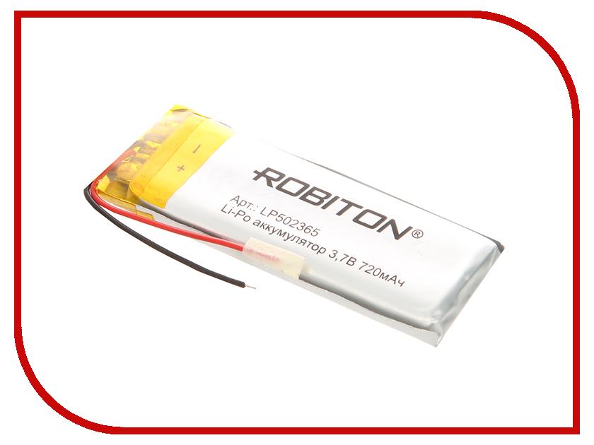 Аккумулятор LP502365 - Robiton 3.7V 720mAh LP720-502365 14066