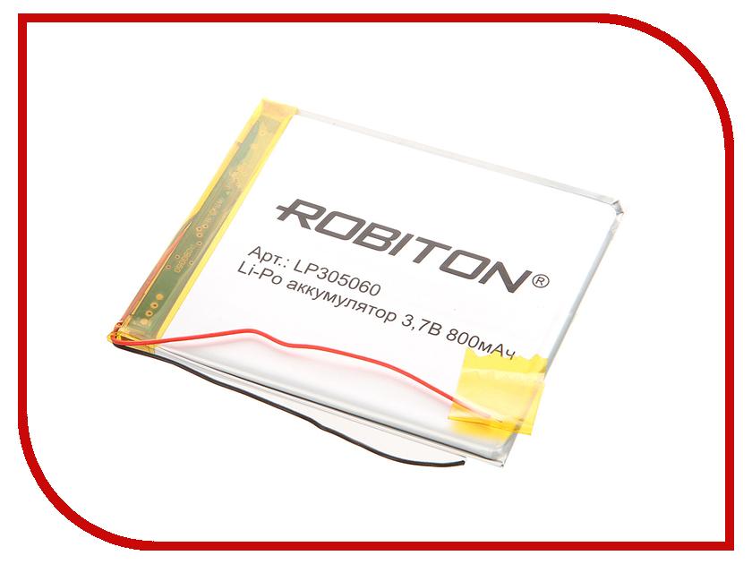 Аккумулятор LP305060 - Robiton 3.7V 800mAh LP800-305060 14071