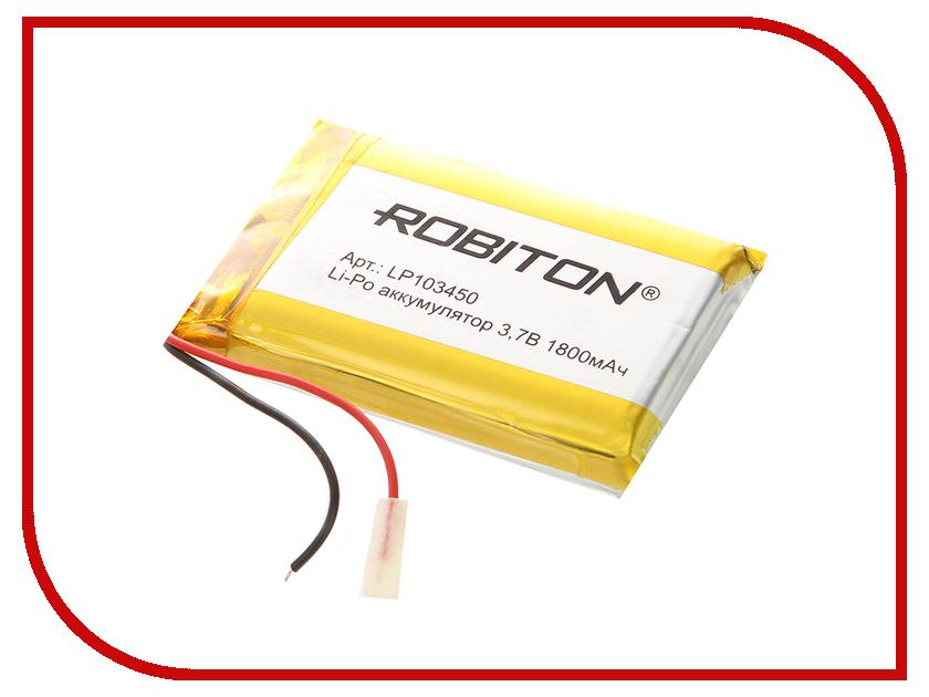Аккумулятор LP103450 - Robiton 3.7V 1800mAh LP1800-103450 14065