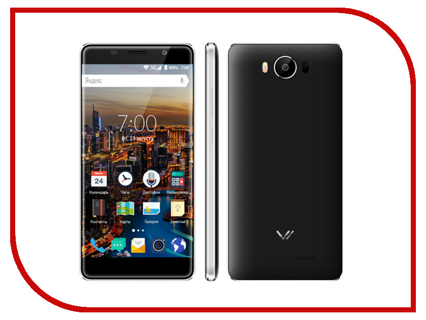 Сотовый телефон Vertex Impress In Touch 3G Black<br>