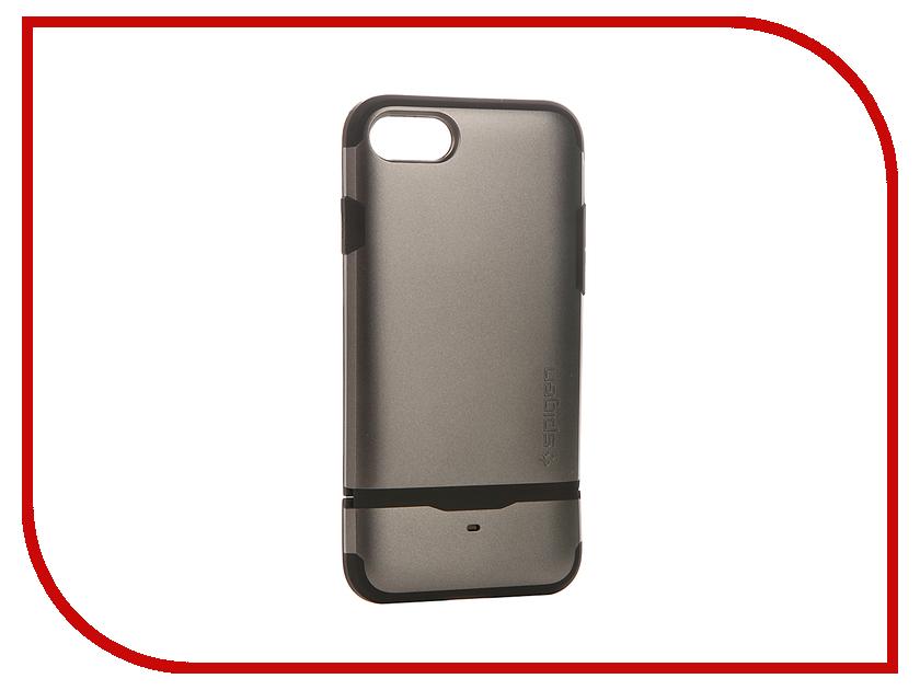 Аксессуар Чехол-визитница Spigen SGP Flip Armor для APPLE iPhone 7 Steel 042CS20775<br>