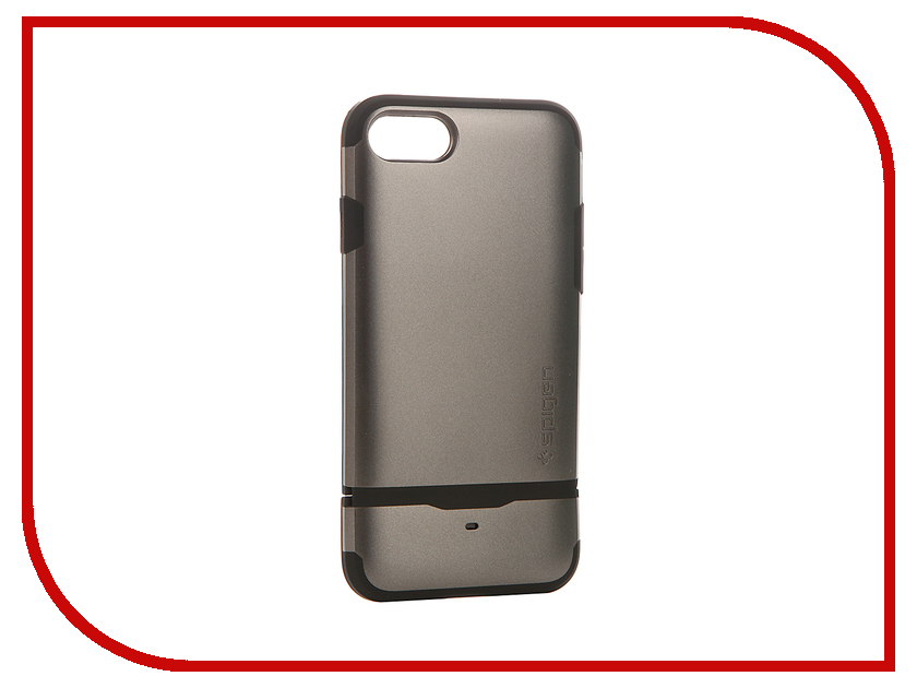 Аксессуар Чехол-визитница Spigen Flip Armor для APPLE iPhone 7 Steel 042CS20775 чехол накладка чехол накладка iphone 6 6s 4 7 lims sgp spigen стиль 1 580075