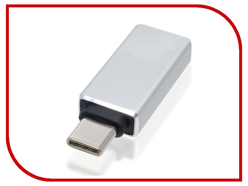 Аксессуар BROSCO OTG USB to Type-C Adapter Silver OTG-ADAPTER-TYPE-C-SILVER twist bell sleeve striped top