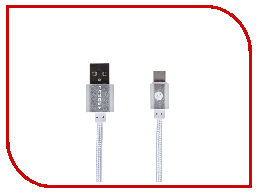 Аксессуар BROSCO USB - Type-C Silver CABLE-TYPE-C-SILVER<br>