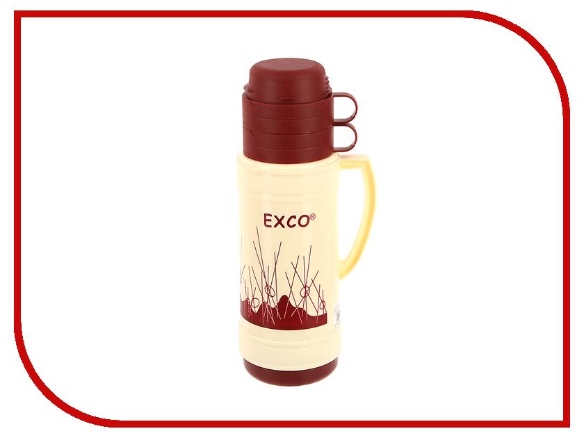 Термос EXCO EN100 1L Beige-Red