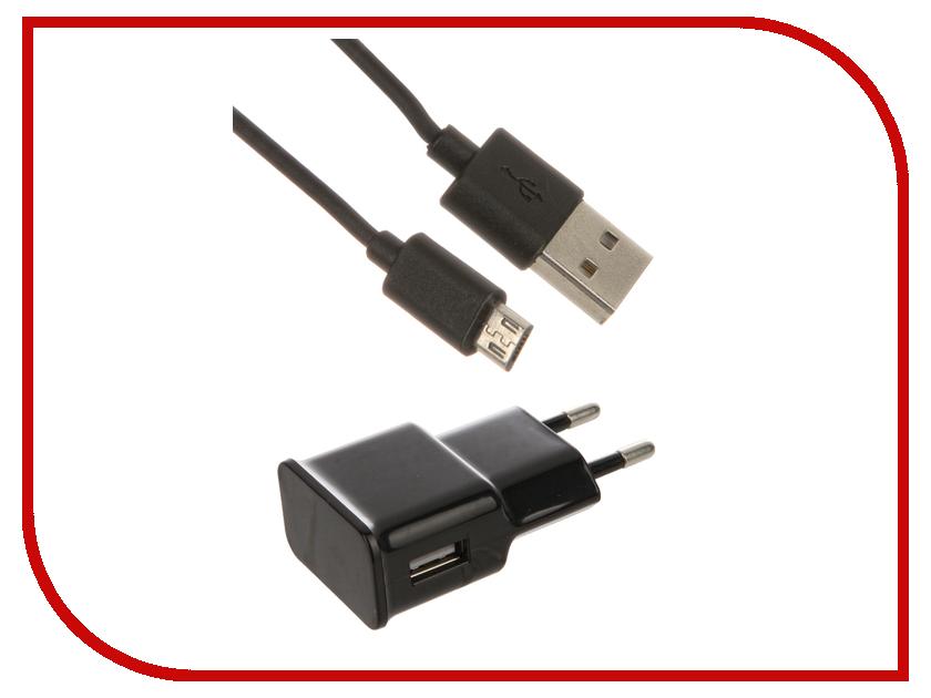 Зарядное устройство Dekken USB 1A + кабель microUSB Black 20903