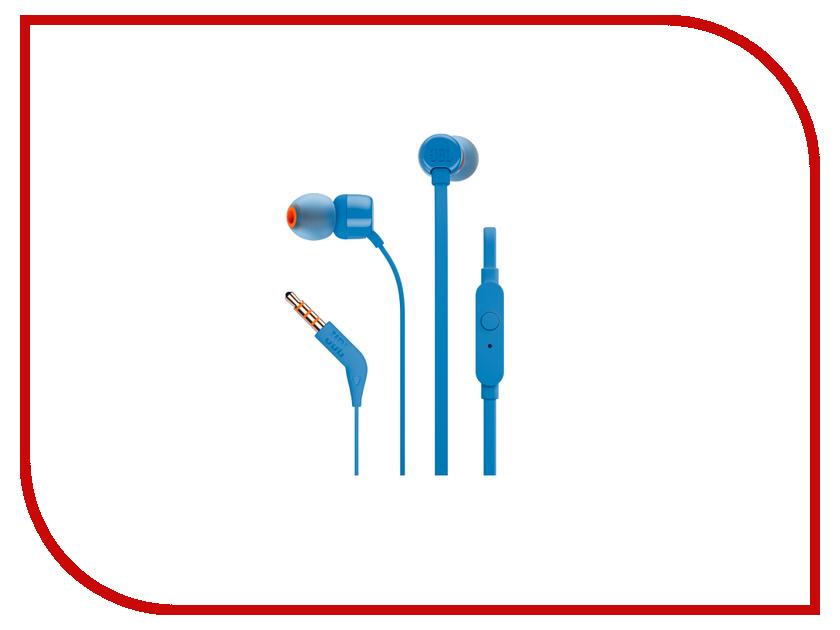 Гарнитура JBL T110 Blue гарнитура jbl grip 200 blue