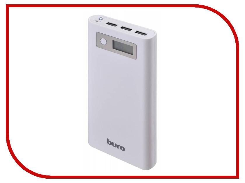 Аккумулятор Buro Power Bank 16000 mAh RA-16000-3U-LCD-WT White<br>