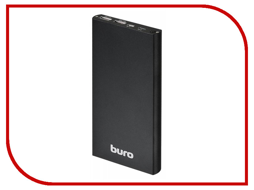 Аккумулятор Buro Power Bank 12000mAh Black RA-12000-AL-BK аккумулятор red line rs 12000 power bank 12000mah silver ут000015559