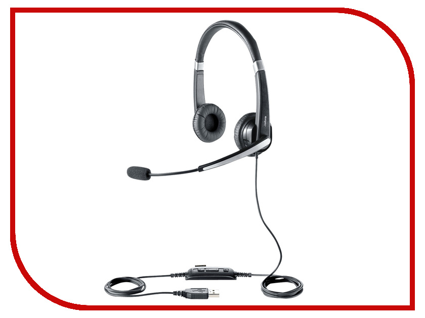 Гарнитура Jabra UC Voice 550 MS Duo bluetooth гарнитура jabra motion uc ms черный 6640 906 301