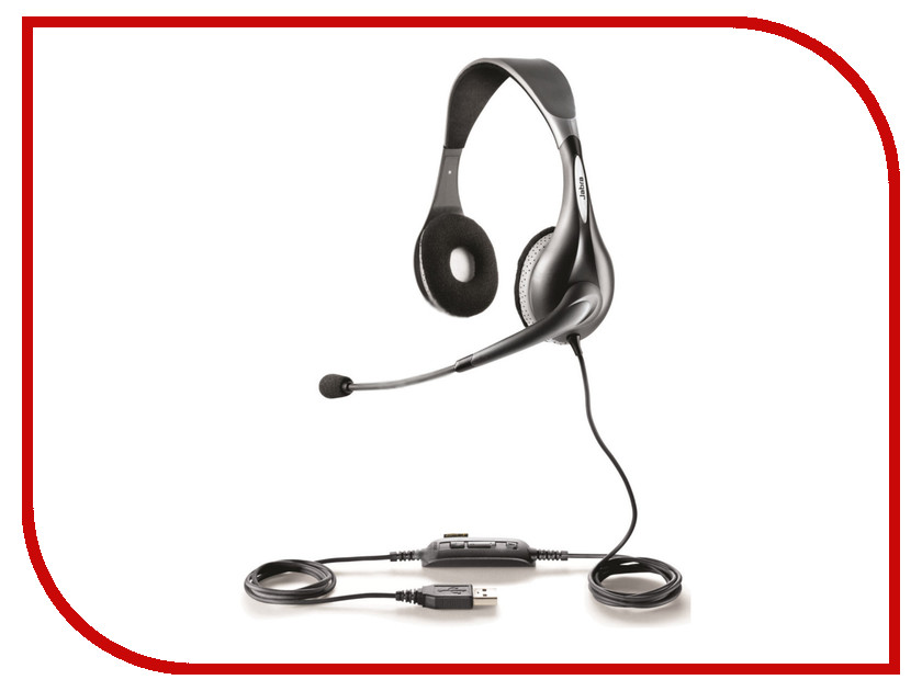 Гарнитура Jabra UC Voice 150 MS Duo 1599-823-109 bluetooth гарнитура jabra motion uc ms черный 6640 906 301