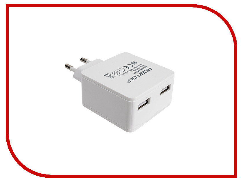 Зарядное устройство Robiton USB2400/Twin 4800mAh 2xUSB<br>