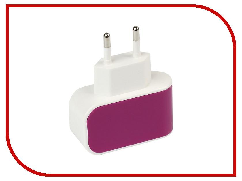 Зарядное устройство SmartBuy Color Charge Combo USB Purple SBP-8090