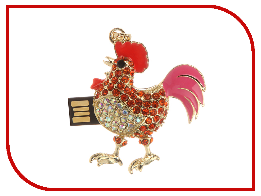 купить USB Flash Drive 8Gb - Iconik Красный Петух Swarovski Crystal MTFC-COCK-8GB дешево