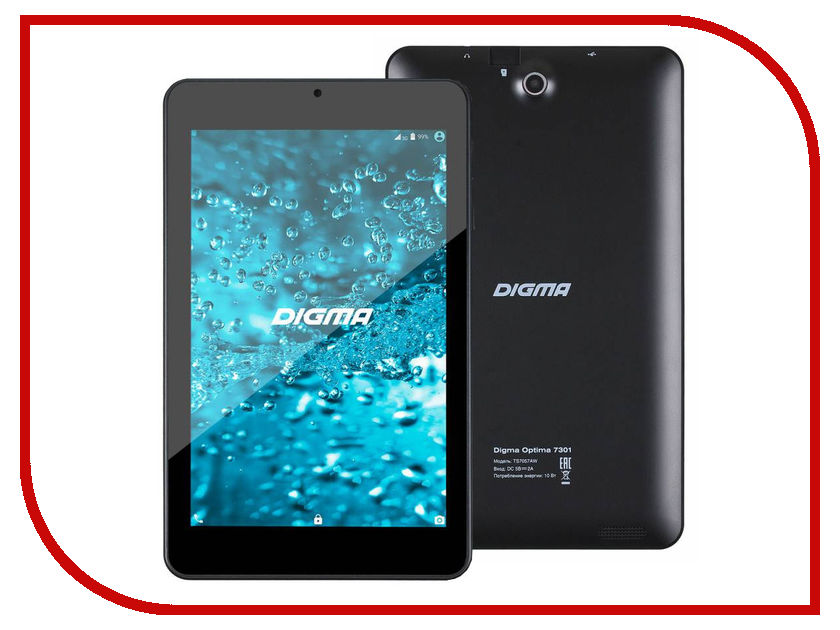 Планшет Digma Optima 7301 TS7057AW (AllWinner A33 1.2 GHz/1024Mb/8Gb/Wi-Fi/Cam/7.0/1280x800/Android) 385036<br>