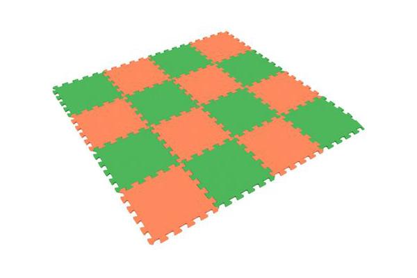 Развивающий коврик Экопромторг Мягкий пол для детской Orange-Green 25МП1/8