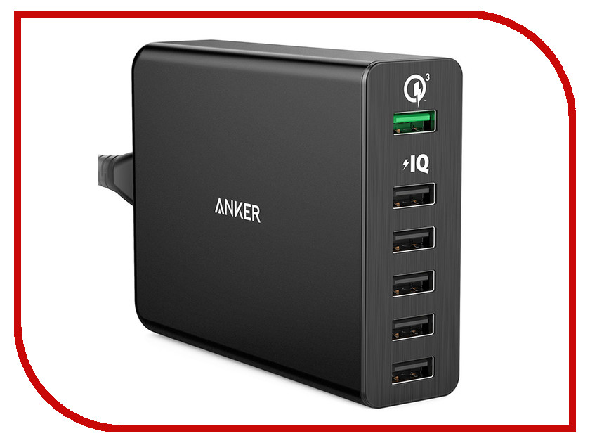 Зарядное устройство Anker Powerport Quick Charge 3.0 Black A2063L11