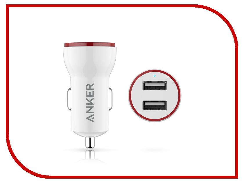 Зарядное устройство Anker PowerDrive 2 Lite 12W White A2308021