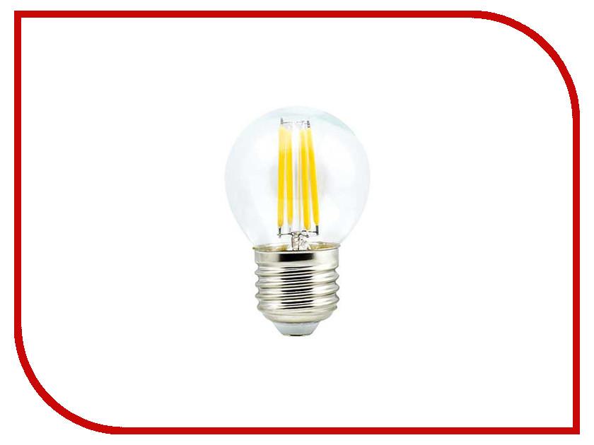 Лампочка Ecola Globe LED E27 5W G45 220V 2700K N7GW50ELC лампочка ecola light classic led e27 11 5w a60 220v 2700k tk7w11elc