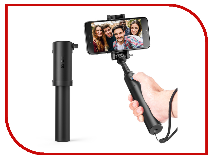 Штатив Anker Bluetooth Selfie Stick Black A7161011