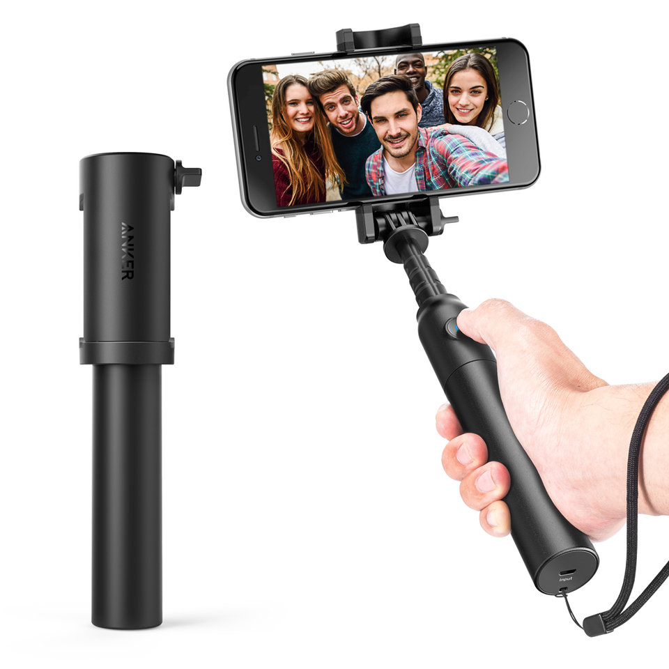 Монопод Anker Bluetooth Selfie Stick Black A7161011