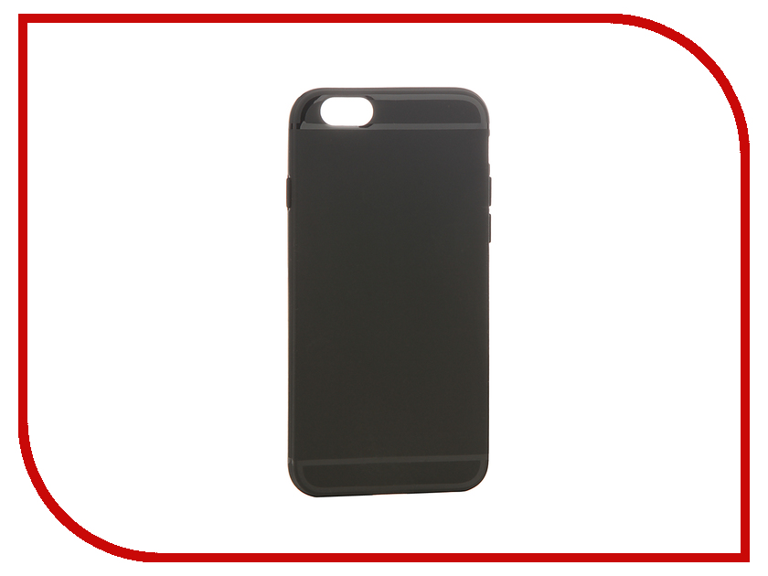 Аксессуар Чехол Cojess Silicone 0.8mm для APPLE iPhone 6 / 6s Black Mat