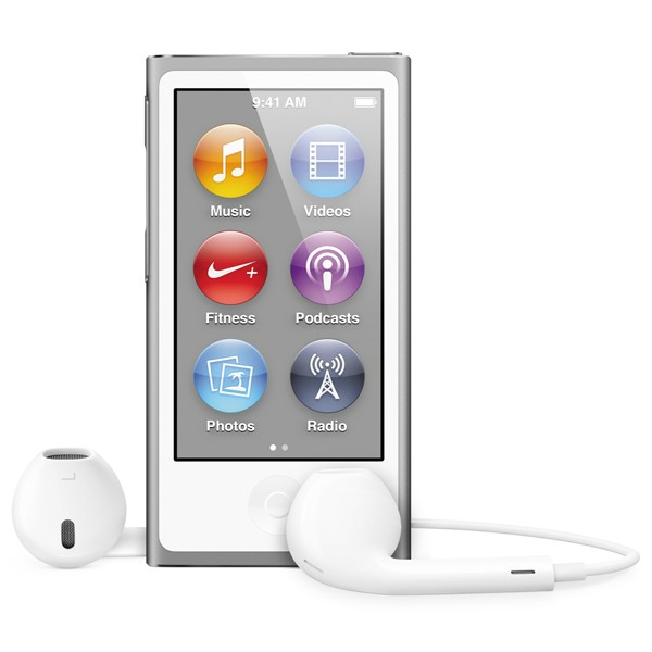 Плеер APPLE iPod Nano 7 - 16Gb Silver MD480