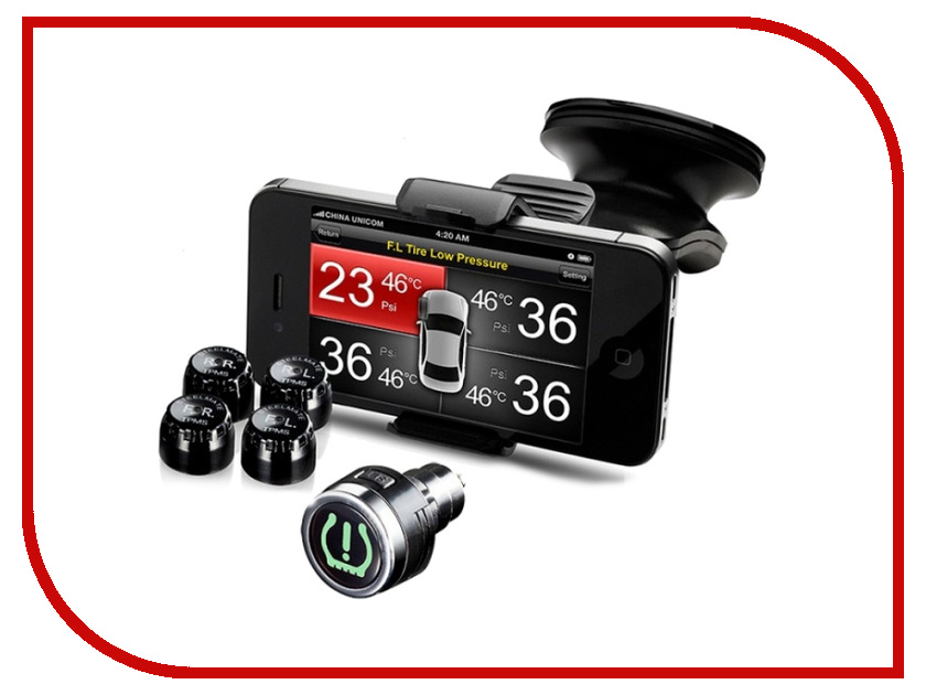 Датчик Parkmaster TPMS 8886 - давления на 4 колеса only one audio auto car wireless tpms tire pressure alarm system solar energy tpms with 4 internal sensors car diagnostic tool