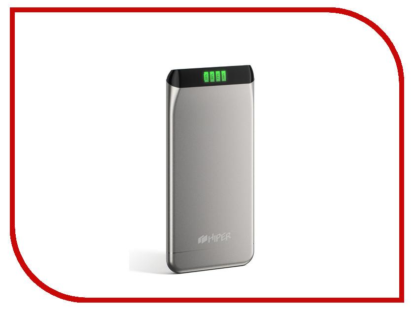 Аккумулятор HIPER Power Bank SLS6300 6300mAh Silver hiper power bank rp7500 инструкция