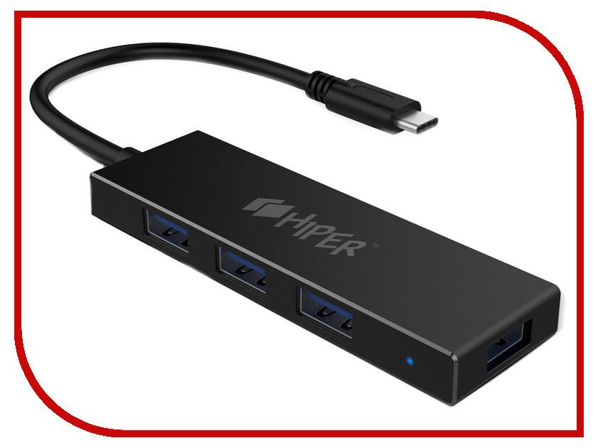 Хаб USB HIPER C5 USB 4 ports хаб usb oxion ox uh627 usb 4 ports