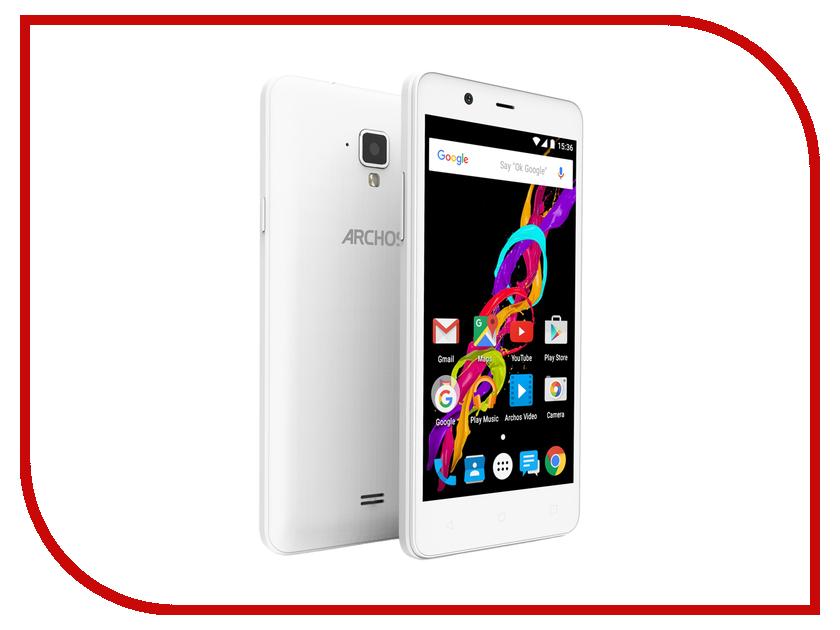 Сотовый телефон Archos 50 Titanium 4G White archos oxygen 50