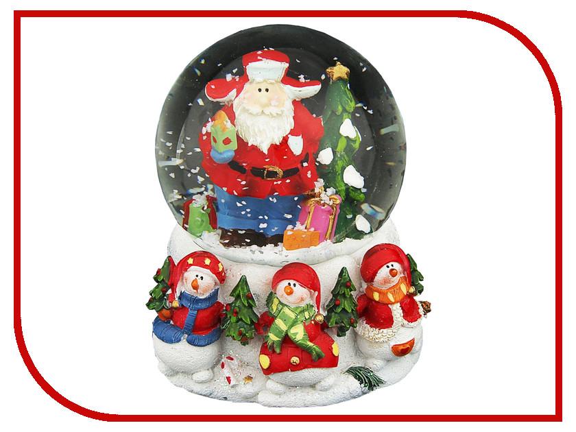 Снежный шар СИМА-ЛЕНД Дед Мороз в шапке-ушанке с ёлочкой 1058591