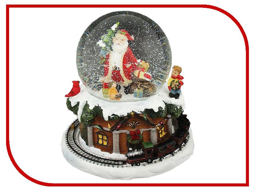 Снежный шар СИМА-ЛЕНД Дед Мороз с паровозиком 1058598 салфетница сима ленд хрюша и дед мороз 3789374