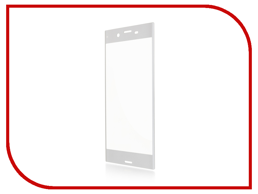 Аксессуар Защитное стекло Sony Xperia XZ BROSCO 0.3mm Silver XZ-3D-GLASS-SILVER<br>