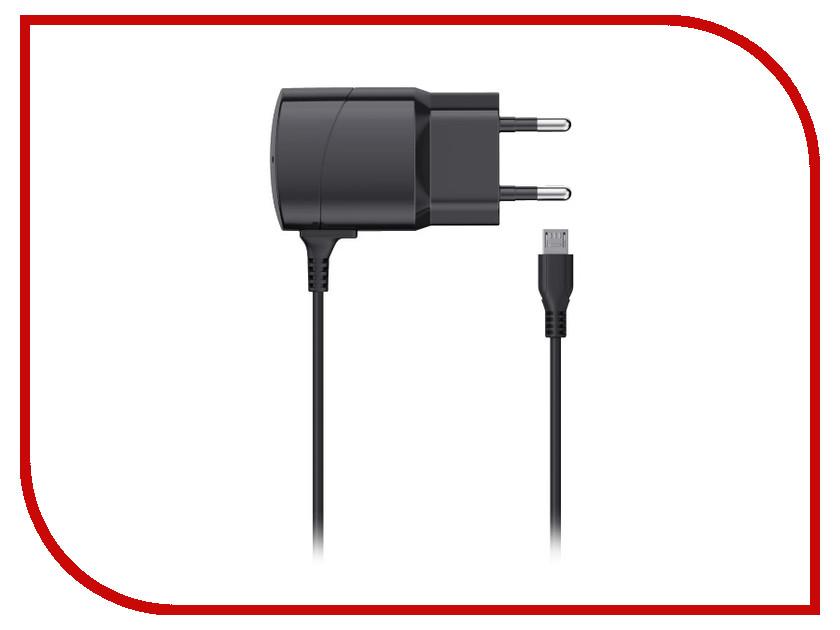 Зарядное устройство SEVEN microUSB 1A Black 1201