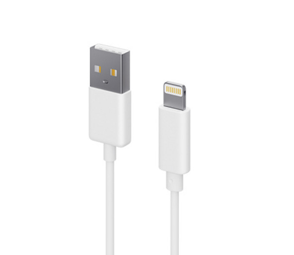Аксессуар SEVEN USB - APPLE Lightning 8-pin White 1206