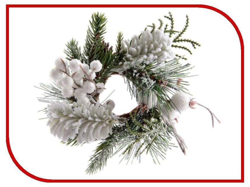 Хвойный декор Kaemingk Снежная прелесть - венок для свечи 13cm 627075