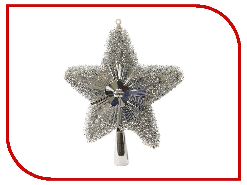 Украшение Kaemingk Искристая звездочка 23cm Silver 410491 елочное украшение звездочка