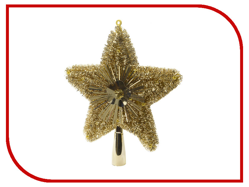 Украшение Kaemingk Искристая звездочка 23cm Gold 410493 прорезыватели macik забавка звездочка с колечками