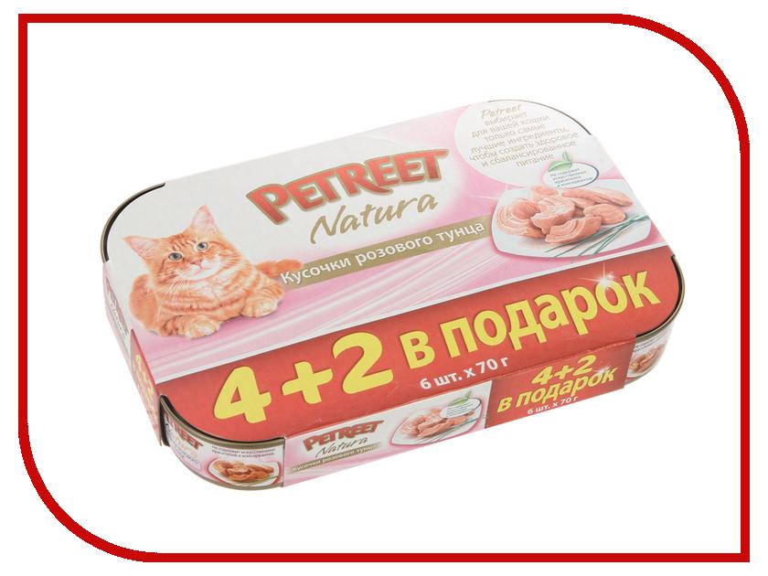 Корм PETREET Кусочки розового тунца 70g 4+2шт 58698<br>