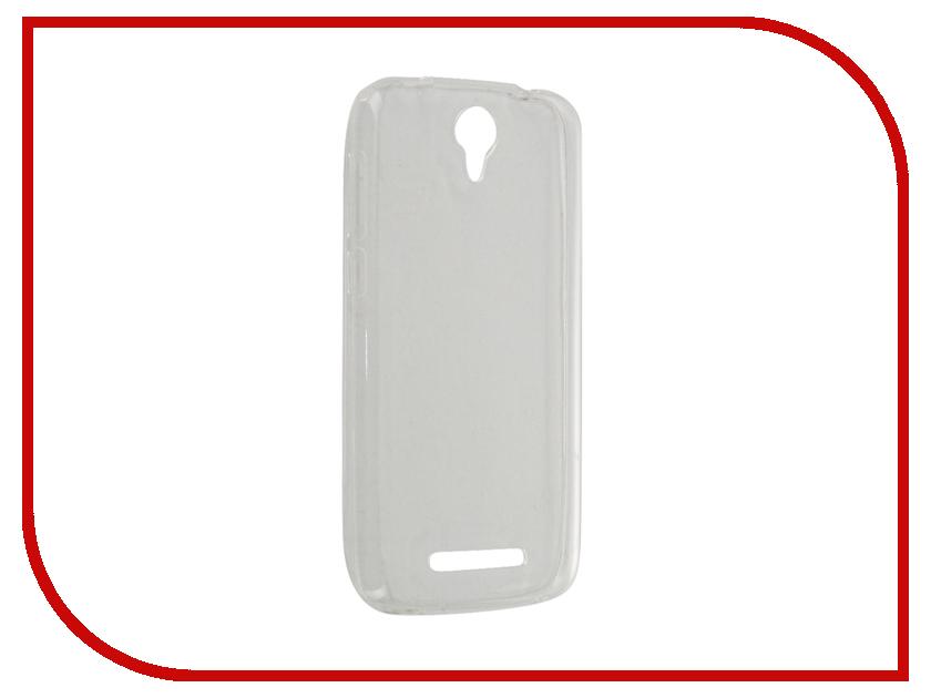 Аксессуар Чехол BQ BQS-5030 Fresh Gecko Transparent-White S-G-BQS5030-WH