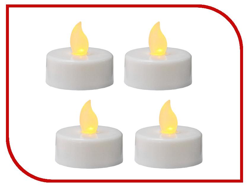 Новогодний сувенир Koopman International Набор мерцающих LED-свечей 4шт XX8990010