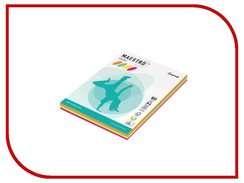 Бумага Maestro Color A4 80g/m2 200 листов Neon RB04 110215