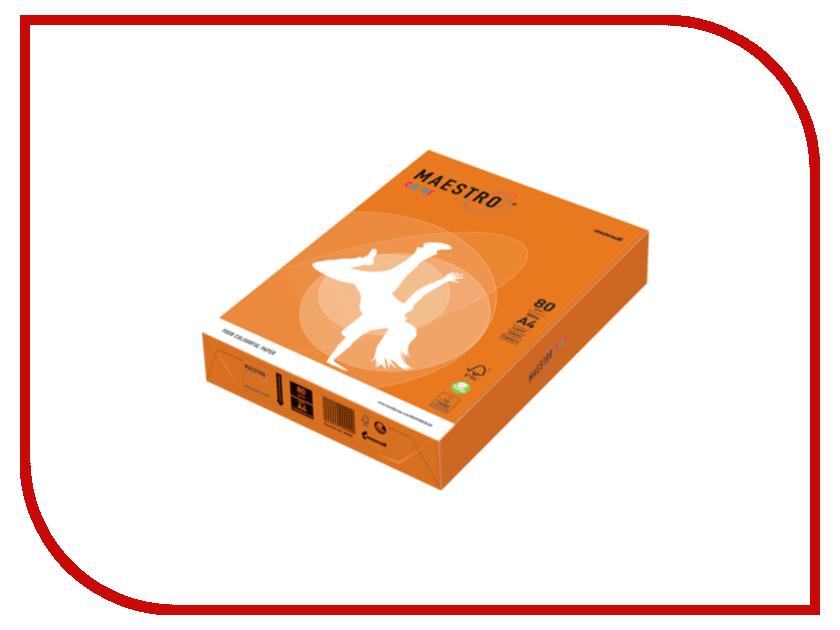 Бумага Maestro Color A4 80g/m2 500 листов Orange OR43 110221<br>